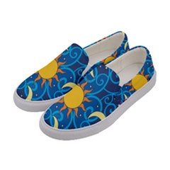 Sun Moon Star Space Vector Clipart Women s Canvas Slip Ons by Mariart
