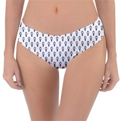 Woman Sign Circle Black Reversible Classic Bikini Bottoms