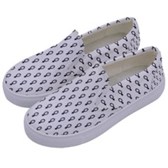 Woman Sign Circle Black Kids  Canvas Slip Ons by Mariart