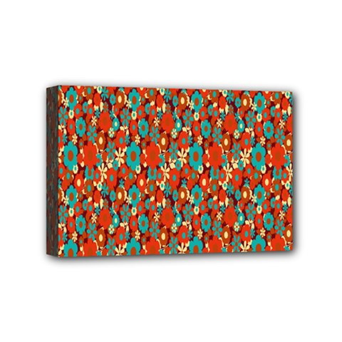Surface Patterns Bright Flower Floral Sunflower Mini Canvas 6  X 4
