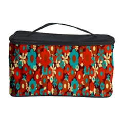Surface Patterns Bright Flower Floral Sunflower Cosmetic Storage Case by Mariart