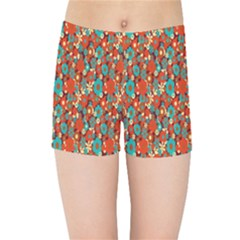 Surface Patterns Bright Flower Floral Sunflower Kids Sports Shorts by Mariart