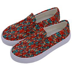 Surface Patterns Bright Flower Floral Sunflower Kids  Canvas Slip Ons by Mariart
