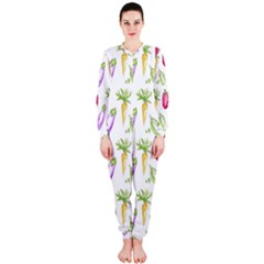 Vegetable Pattern Carrot Onepiece Jumpsuit (ladies)  by Mariart