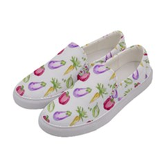 Vegetable Pattern Carrot Women s Canvas Slip Ons by Mariart
