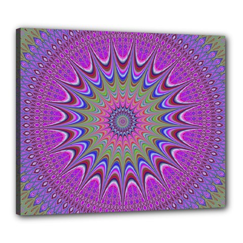 Art Mandala Design Ornament Flower Canvas 24  X 20  by BangZart