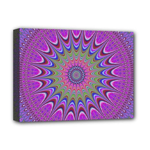 Art Mandala Design Ornament Flower Deluxe Canvas 16  X 12   by BangZart