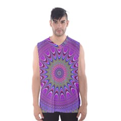 Art Mandala Design Ornament Flower Men s Basketball Tank Top