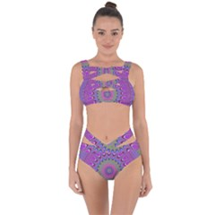 Art Mandala Design Ornament Flower Bandaged Up Bikini Set  by BangZart