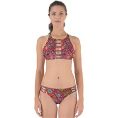 Carpet Orient Pattern Perfectly Cut Out Bikini Set by BangZart
