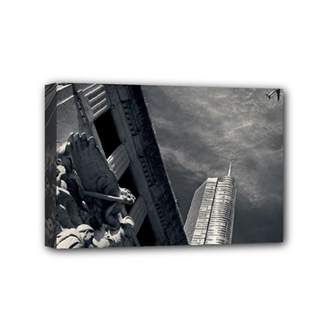 Chicago Skyline Tall Buildings Mini Canvas 6  X 4  by BangZart