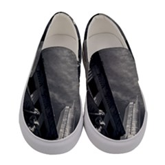 Chicago Skyline Tall Buildings Women s Canvas Slip Ons