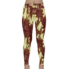 Floral Pattern Background Classic Yoga Leggings