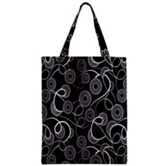 Floral Pattern Background Zipper Classic Tote Bag by BangZart