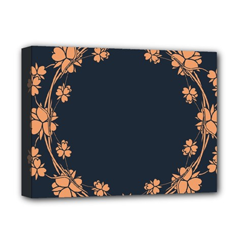 Floral Vintage Royal Frame Pattern Deluxe Canvas 16  X 12   by BangZart