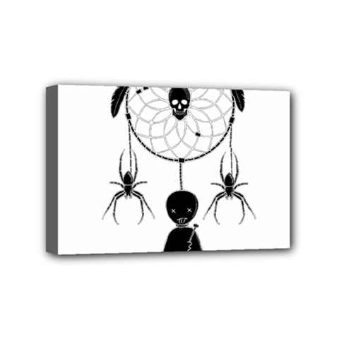 Voodoo Dream Catcher  Mini Canvas 6  X 4  by Valentinaart