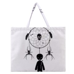 Voodoo Dream Catcher  Zipper Large Tote Bag by Valentinaart