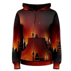 Gold Golden Skyline Skyscraper Women s Pullover Hoodie