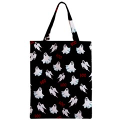 Ghost Pattern Zipper Classic Tote Bag by Valentinaart