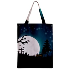 Halloween Landscape Zipper Classic Tote Bag by Valentinaart