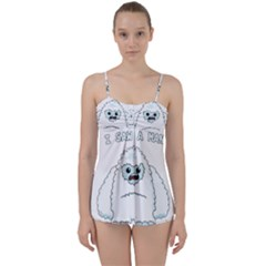Yeti   I Saw A Man Babydoll Tankini Set