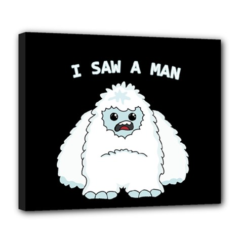 Yeti   I Saw A Man Deluxe Canvas 24  X 20   by Valentinaart