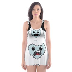 Yeti   I Saw A Man Skater Dress Swimsuit by Valentinaart