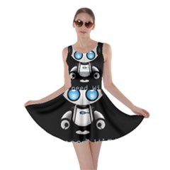 Cute Robot Skater Dress