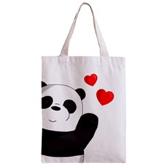 Cute Panda Zipper Classic Tote Bag by Valentinaart