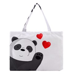 Cute Panda Medium Tote Bag by Valentinaart