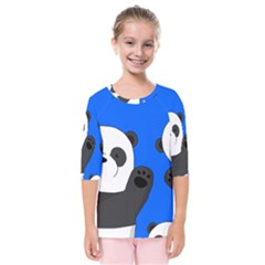 Cute Pandas Kids  Quarter Sleeve Raglan Tee
