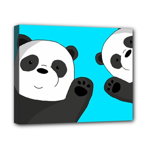 Cute Pandas Canvas 10  X 8  by Valentinaart