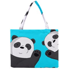 Cute Pandas Mini Tote Bag by Valentinaart