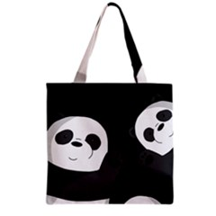Cute Pandas Grocery Tote Bag by Valentinaart