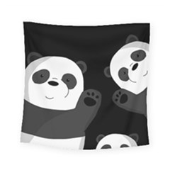 Cute Pandas Square Tapestry (small)