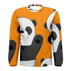 Cute Pandas Men s Long Sleeve Tee