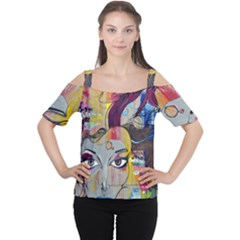 Graffiti Mural Street Art Painting Cutout Shoulder Tee
