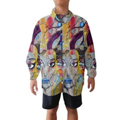 Graffiti Mural Street Art Painting Wind Breaker (kids) by BangZart