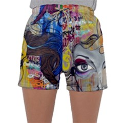 Graffiti Mural Street Art Painting Sleepwear Shorts