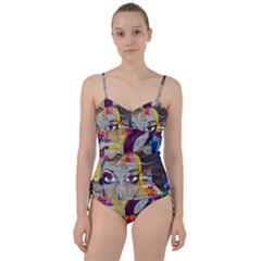 Graffiti Mural Street Art Painting Sweetheart Tankini Set