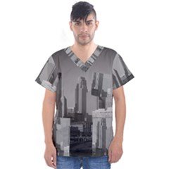Minneapolis Minnesota Skyline Men s V-neck Scrub Top