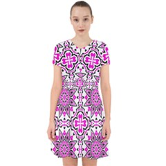 Oriental Pattern Adorable In Chiffon Dress