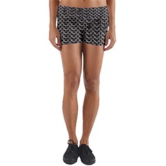 Sparkling Metal Chains 01b Yoga Shorts