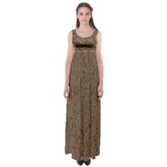Sparkling Metal Chains 02a Empire Waist Maxi Dress