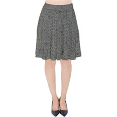 Sparkling Metal Chains 02b Velvet High Waist Skirt