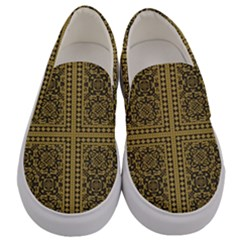 Seamless Pattern Design Texture Men s Canvas Slip Ons