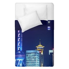 Shanghai Oriental Pearl Tv Tower Duvet Cover Double Side (single Size)