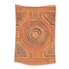 Symbolism Paneling Oriental Ornament Pattern Small Tapestry by BangZart