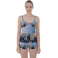 Shanghai The Window Sunny Days City Tie Front Two Piece Tankini by BangZart