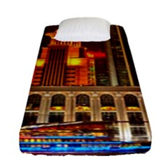 Shanghai Skyline Architecture Fitted Sheet (single Size)